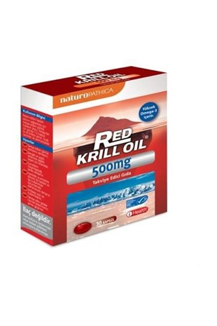 iHealth Red Krill Oil 500 mg 30 Kapsül